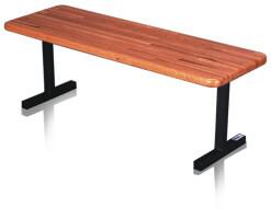 Red Oak Butcherblock Bench-0