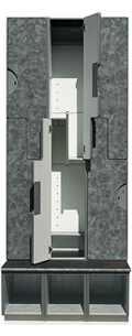 Ideal 3000-1 Series Locker with Lower Cubby
