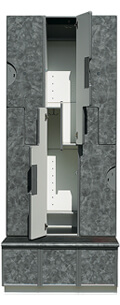 Ideal 3000-3 Series Locker with Raised Platform